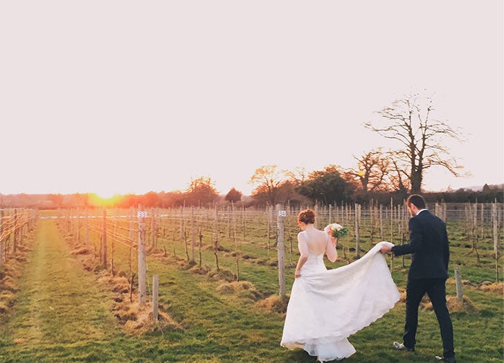wedding vineyard sunset LIST