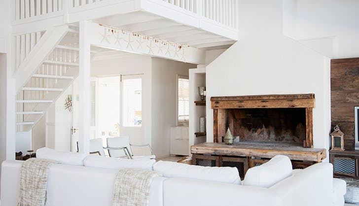 white decor living room list