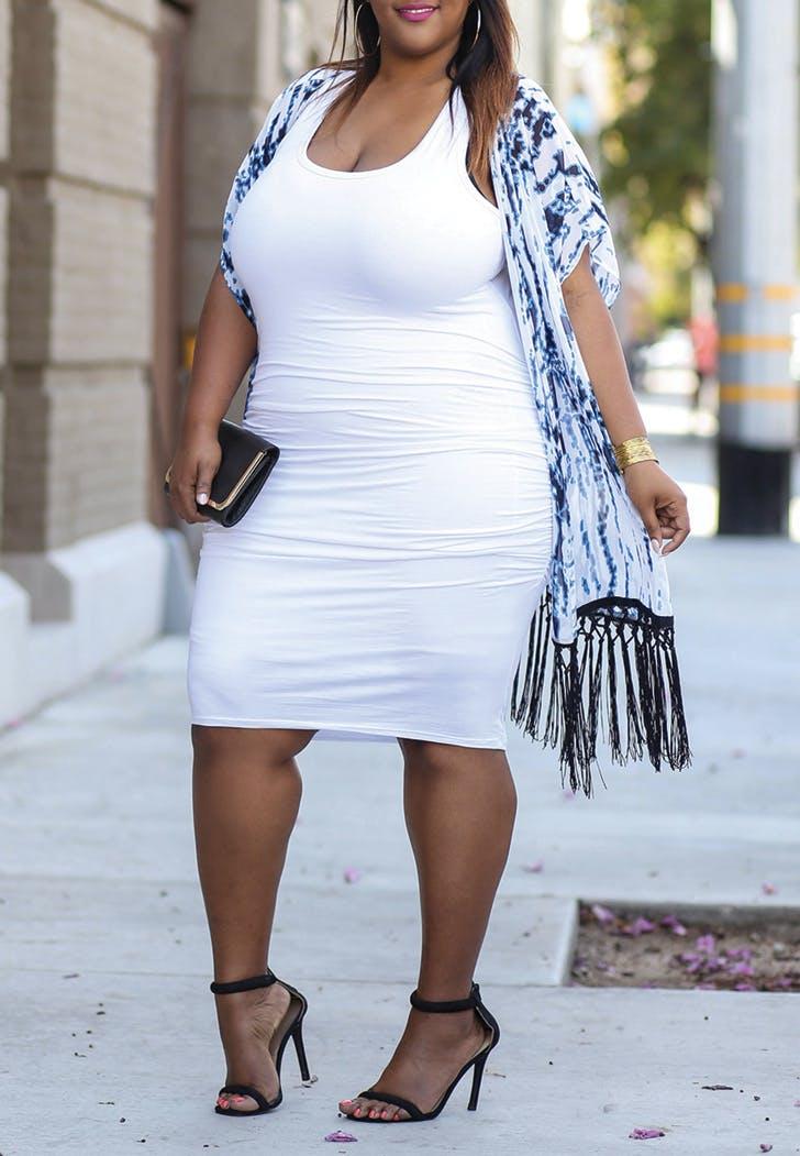white dress kimono