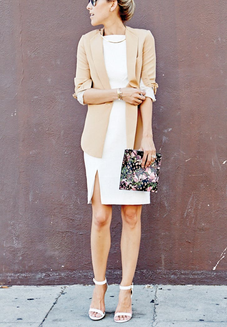 white dress blazer