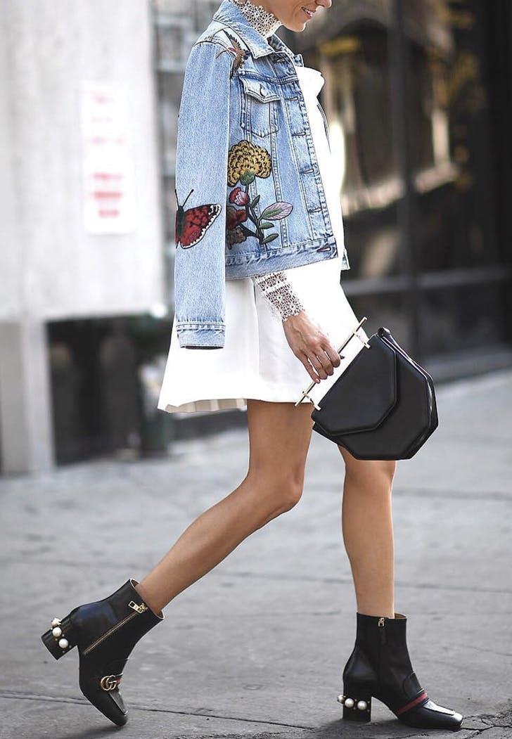 white dress jean