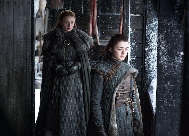 Arya and Sansa Stark Game of Thrones Season Seven Episode 6