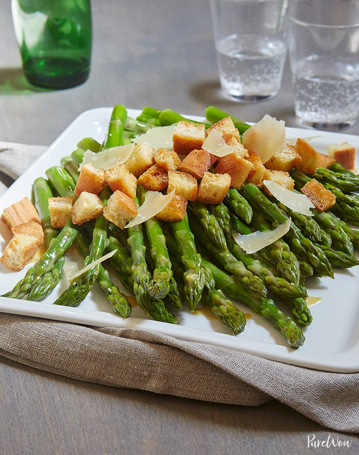 Asparagus Caesar Salad with Dressing