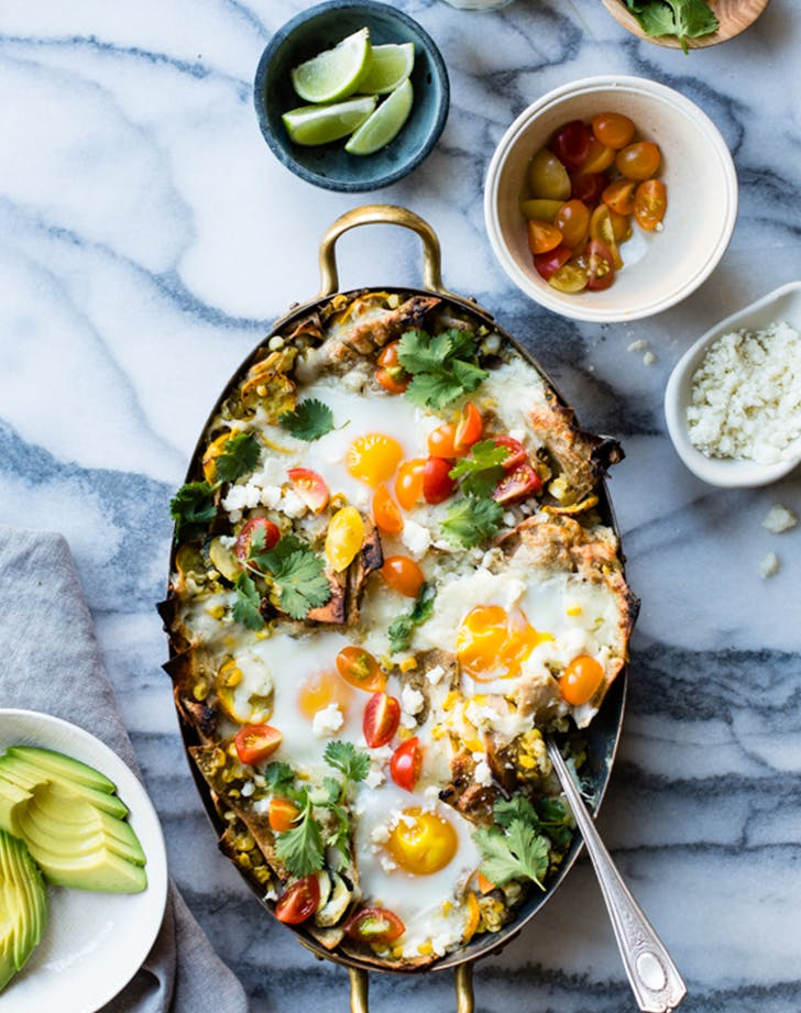 Baked Green Chilaquiles with Sweet Corn   Summer Squash fresh corn recipes