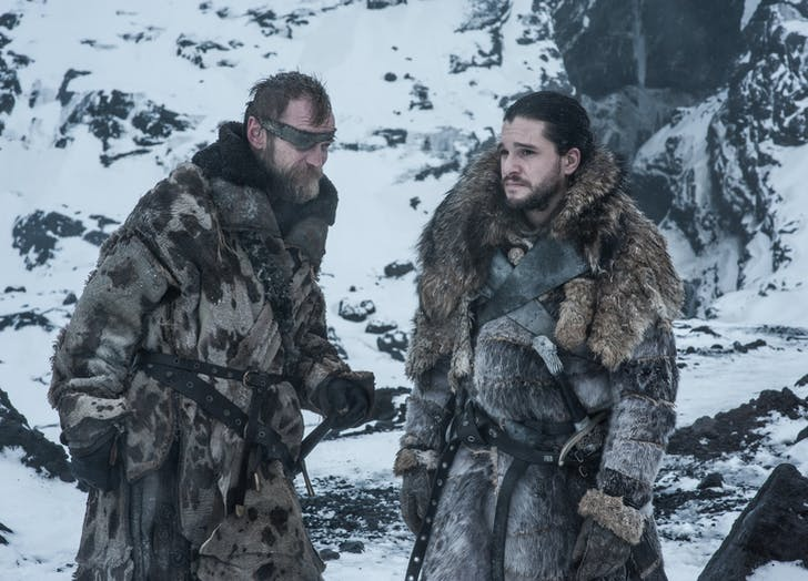 Beric Dondarrion Jon Snow Game of Thrones Season Seven Episode 6