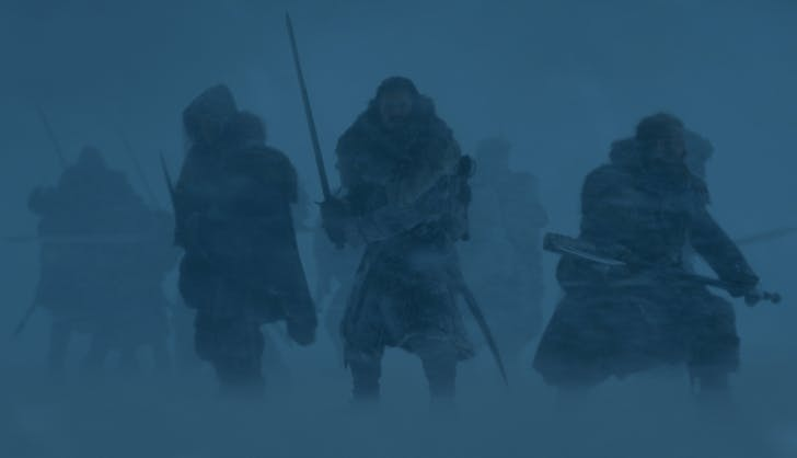 Beyond the wall Game of Thrones Season Seven Episode 6