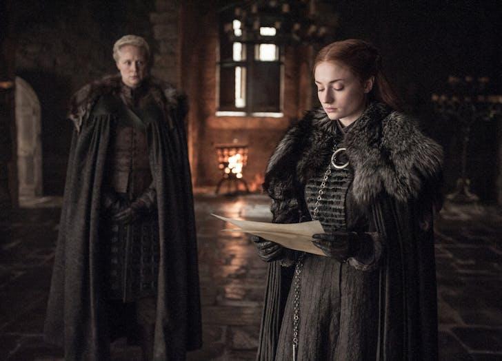 Brienne of Tarth and Sansa Stark Game of Thrones Season Seven Episode 6