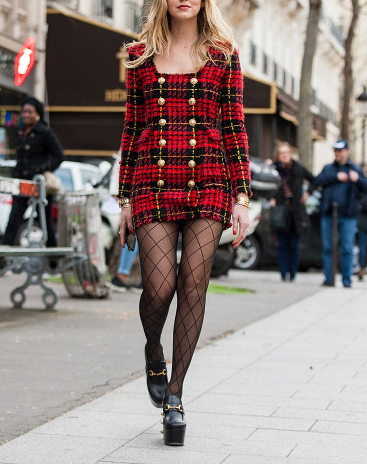 CHI plaid mini dress LIST