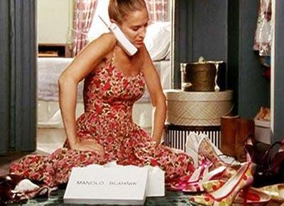 Carrie Bradshaw shoe closet