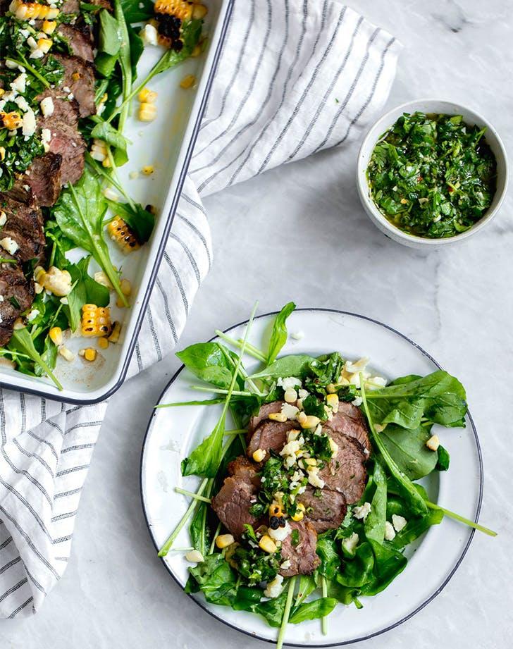 Chimichuri Steak Salad fresh corn recipes