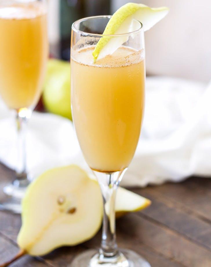Cinnamon Pear Mimosas