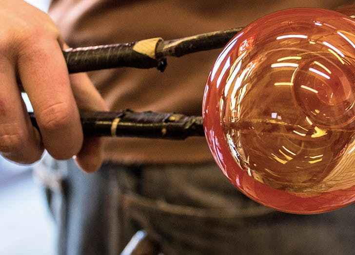 DAL fort worth glassblowing LIST