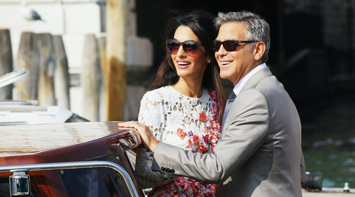 George & Amal Clooney Rock His and Hers Tennis Outfits in Italy, Because Thats What They Do