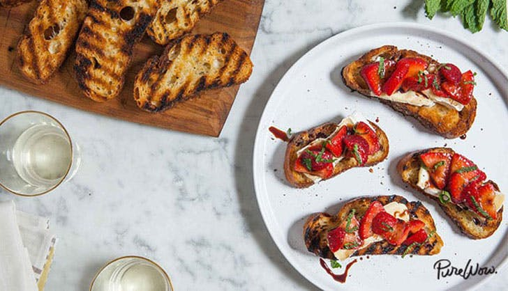 Grilled Cheese Crostini PureWow