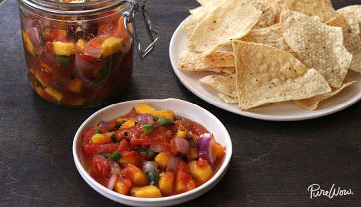 Grilled mango salsa PureWow