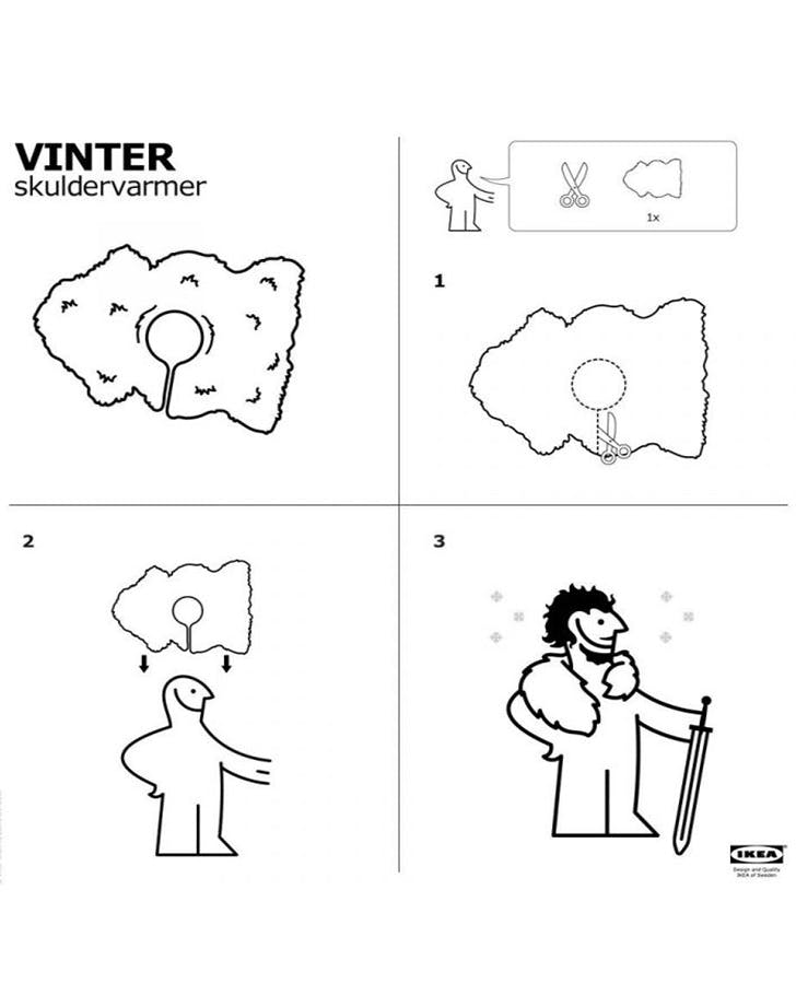 Ikea Game of thrones Jon Snow Kit Harington knight s watch cape