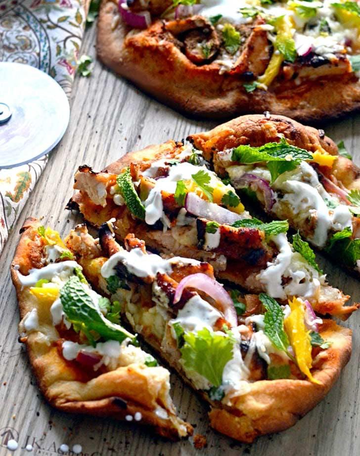 Indian Tandori Chicken Naan Pizza 921