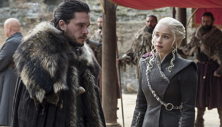 Jon Snow and Danaerys Game of Thrones Season 7 finale1
