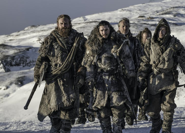 Jon Snow Beyond the Wall Game of Thrones Season Seven Episode 6