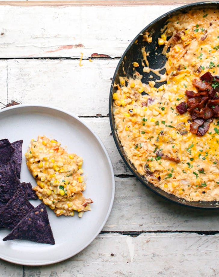 Kimchi Bacon Creamed Corn fresh corn recipes
