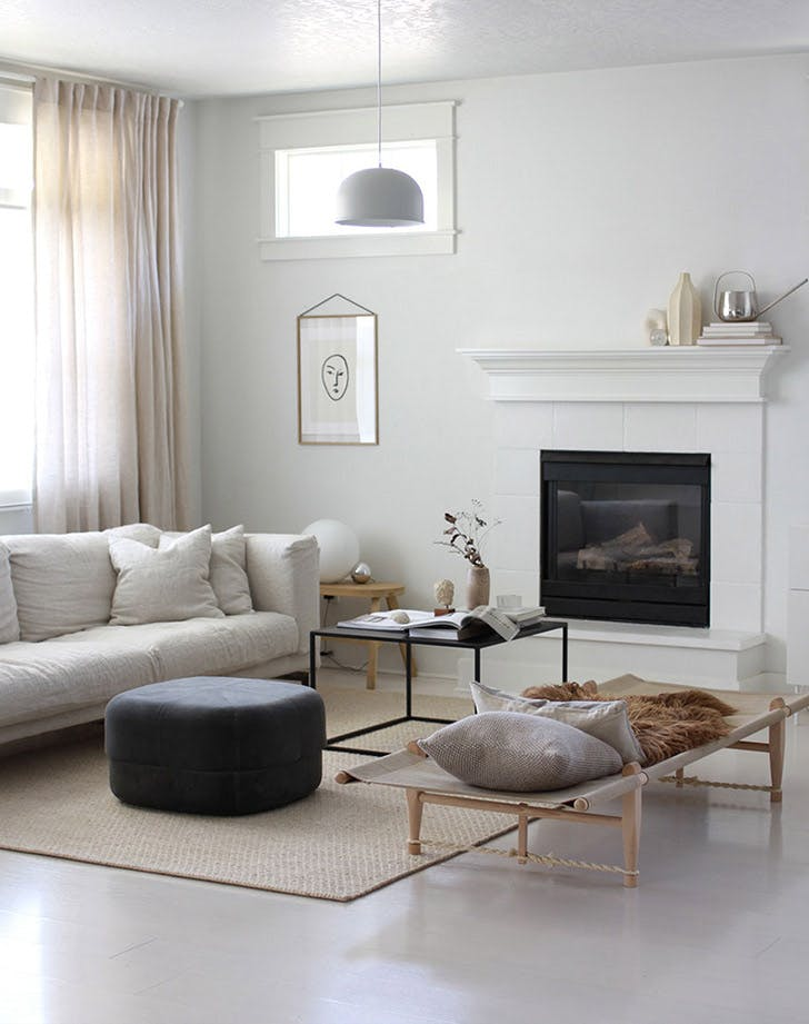 LA destress home living room LIST