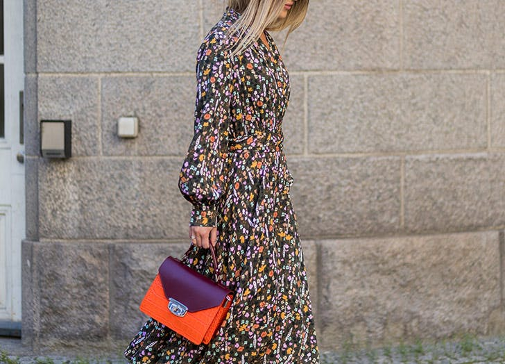 LA fall fashion moody floral dress LIST