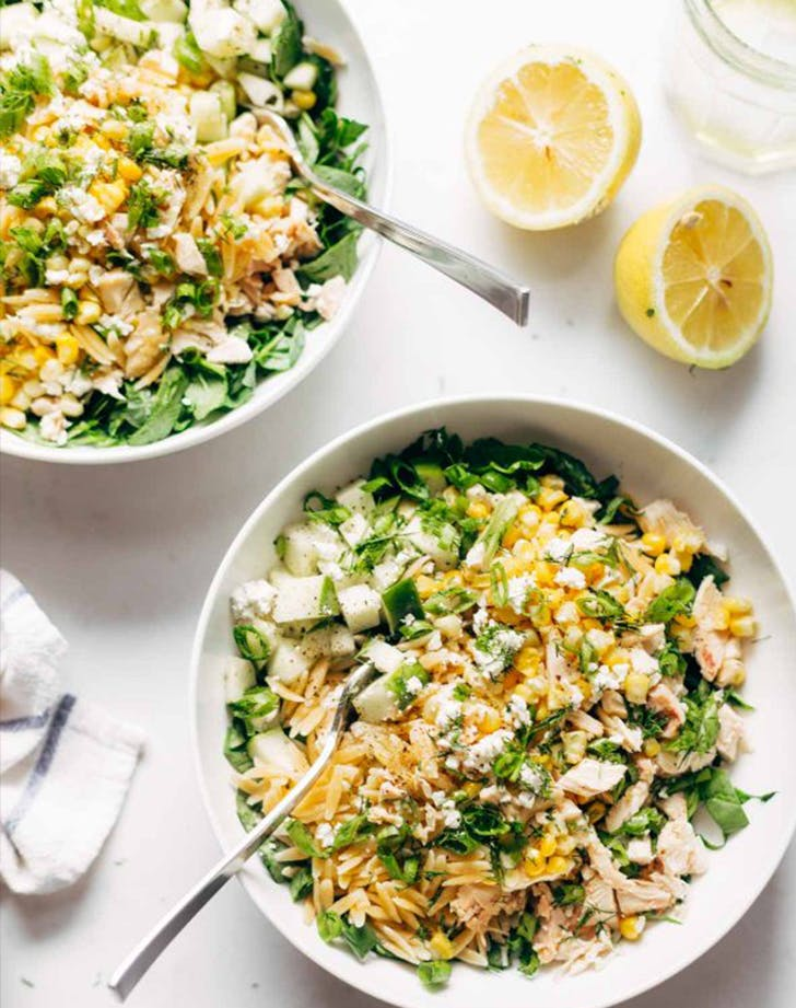 LEMON ORZO SALAD lunch salads
