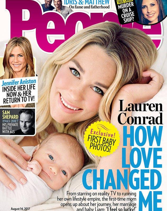 Lauren Conrad Liam Tell newborn cover