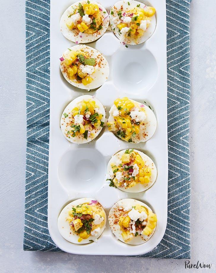 Mexican Street Corn Deviled Eggs fresh corn recipes