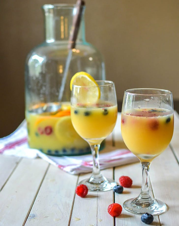 Mimosa Sangria glasses