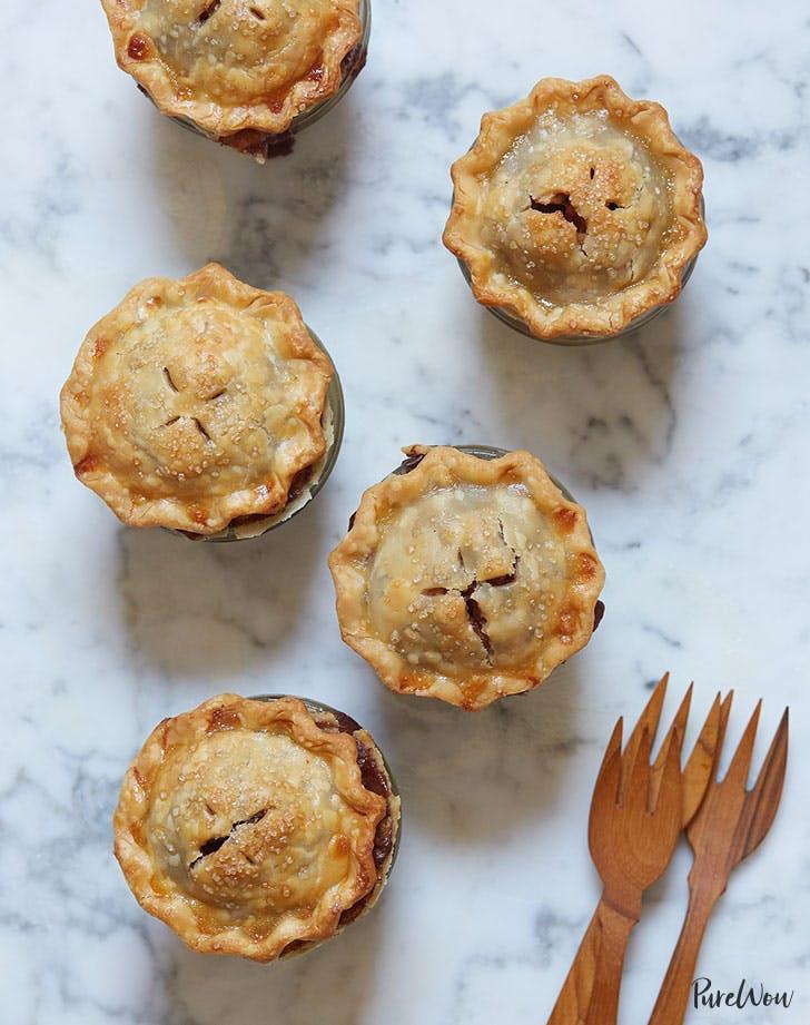 Mini apple pies in mason jars