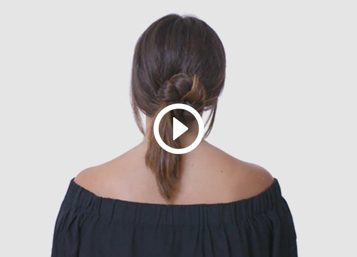 NY low maintenance hair tadpole bun LIST
