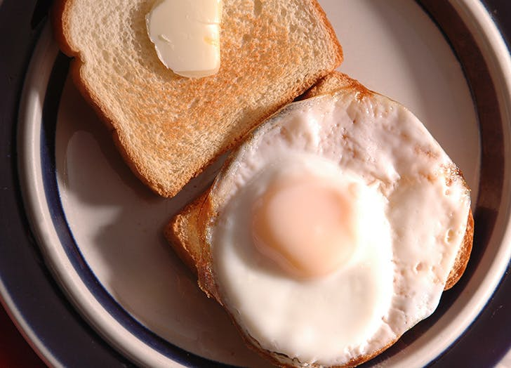Over Easy Fried Egg on Toast