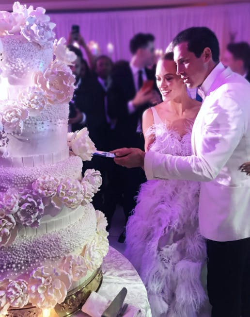 Peta Murgatroyd Wedding cake