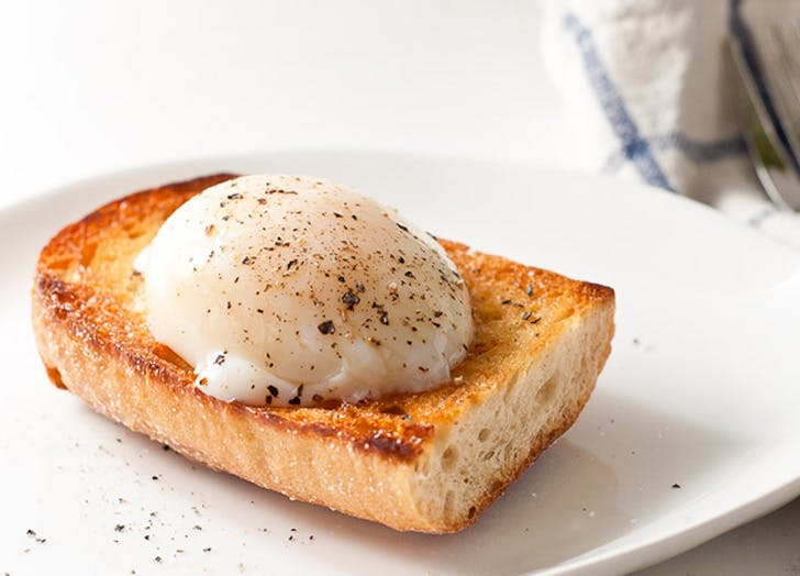 Poached Egg on top of toast