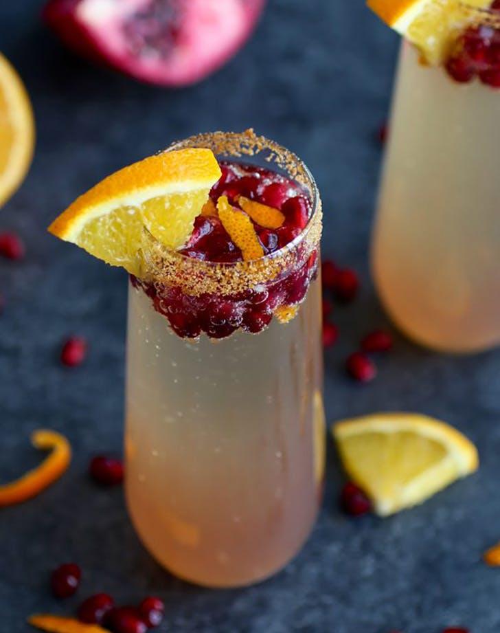 Pomegranate Kombucha Mimosa Recipe