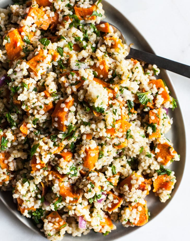 SWEET POTATO BULGUR CITRUS SALAD lunch salads