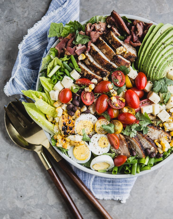 Southwest Style Cobb Salad with Smoky Chipotle Dressing fresh corn recipes