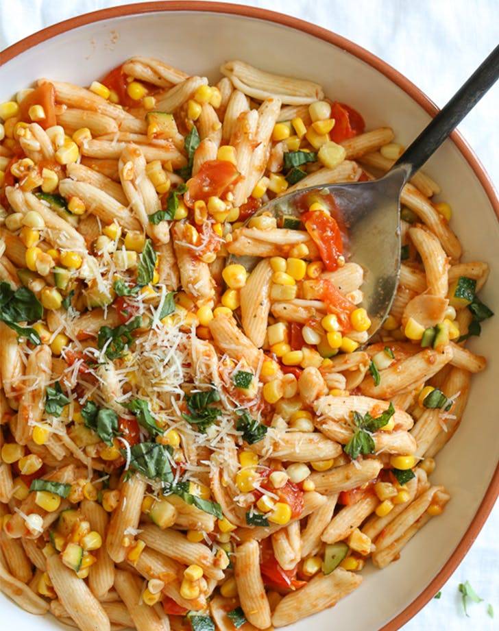Summer Cavatelli with Corn  Tomatoes and Zucchini fresh corn recipes
