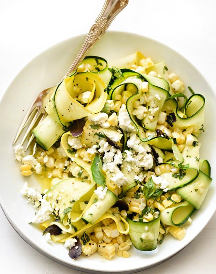 Zucchini and Fresh Corn Farmers Market Salad with Lemon Basil Vinaigrette fresh corn recipes
