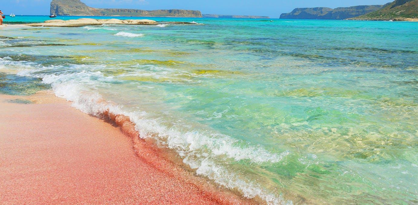 balos bay crete greece pink sand beach psd