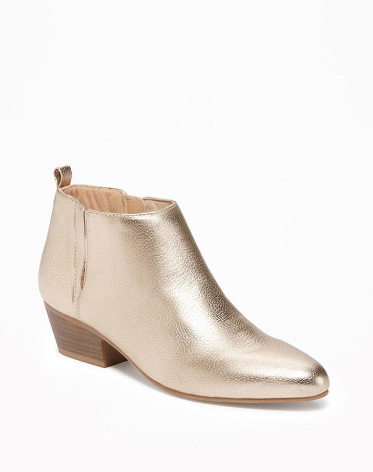 best things at old navy metallic booties