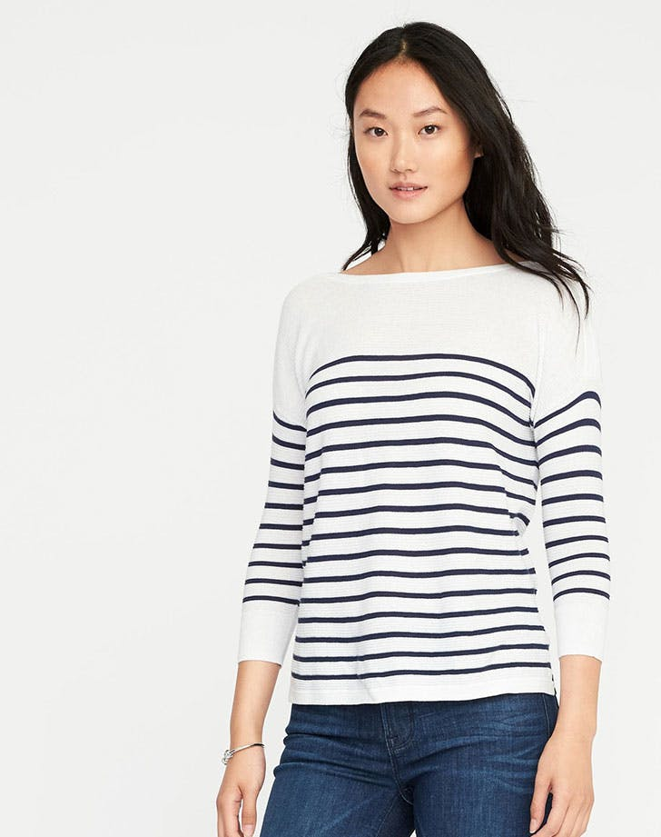 best things at old navy striped sweater