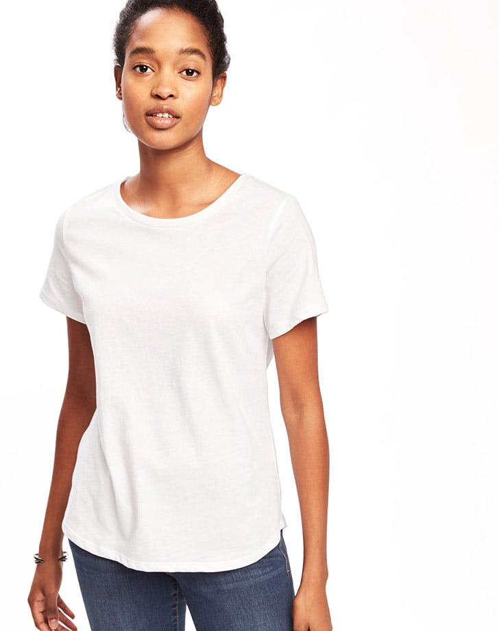 best things at old navy white tee