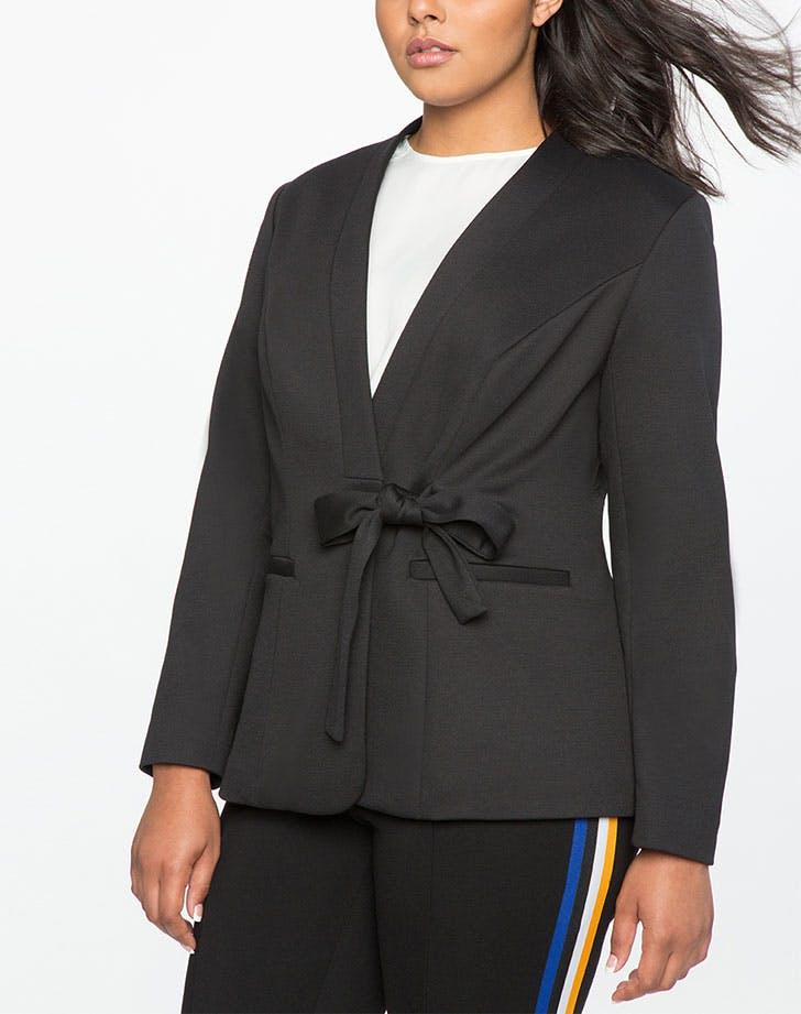 blazer cinched waist