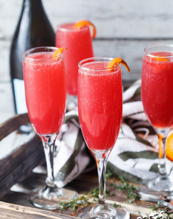 blood orange thyme mimosas