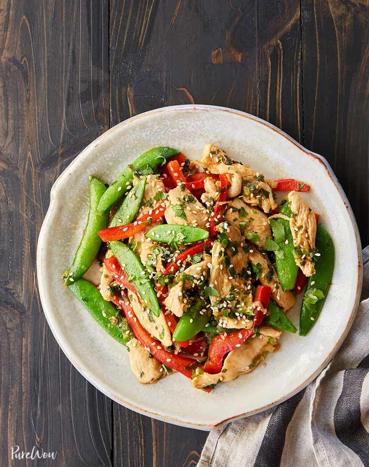 chicken and snap pea stir fry 921