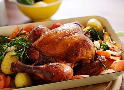 chicken with crispy skin 290