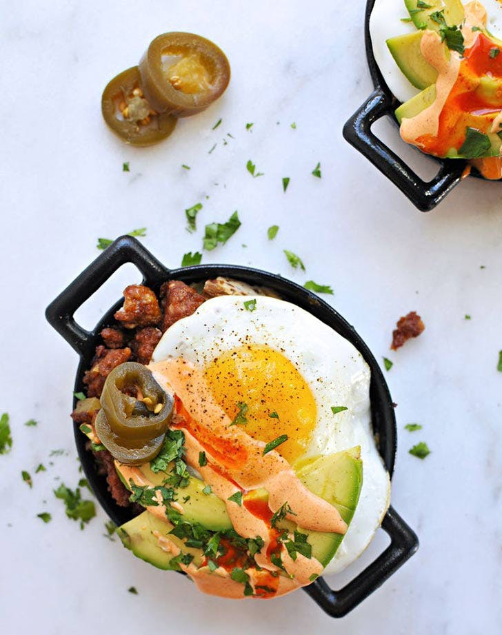 chorizo hash with eggs 921