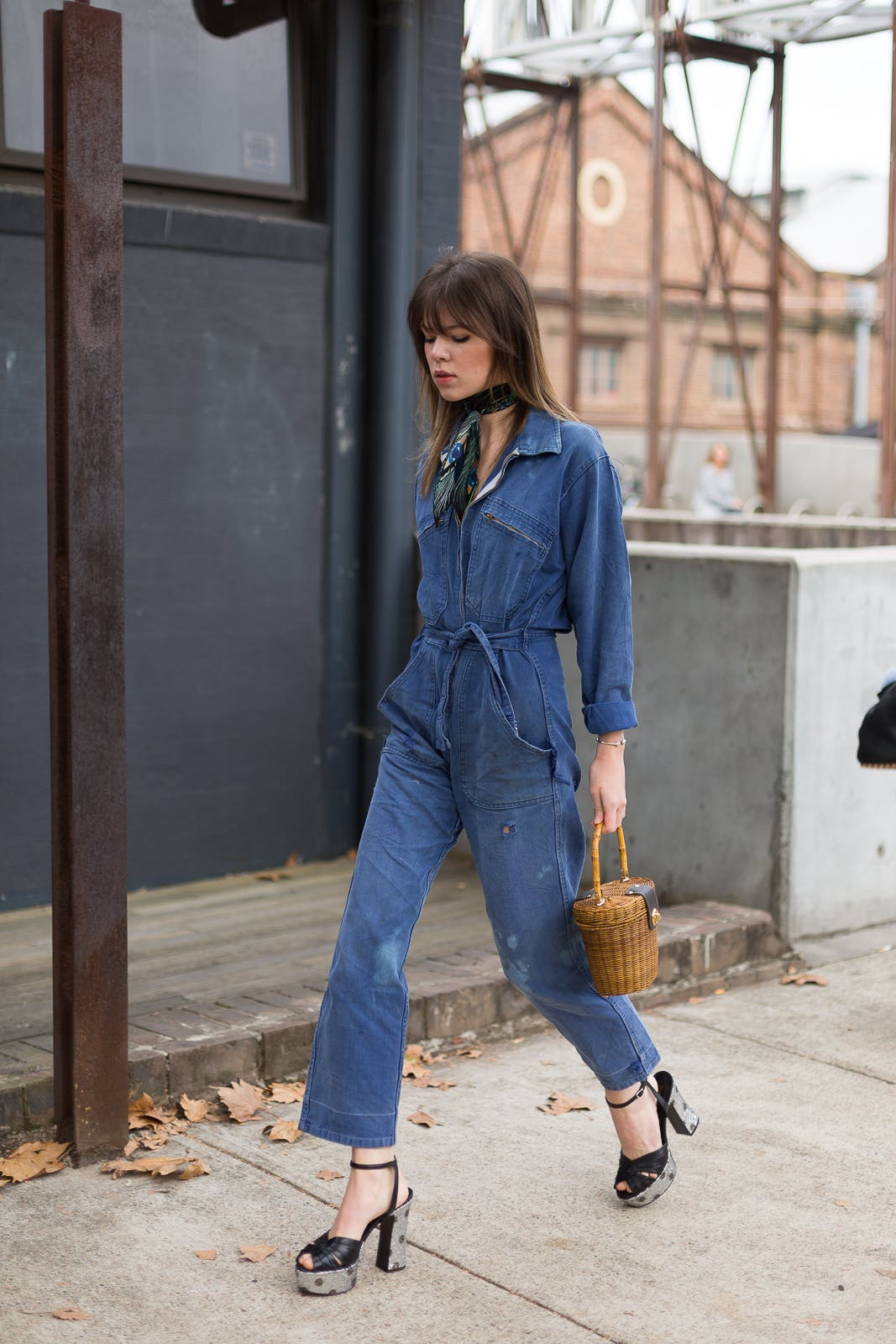 christian vierig getty denim boiler suit
